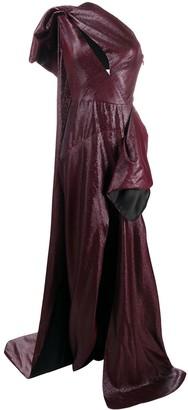 Maticevski Butterfly asymmetric gown