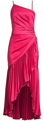 Flor Et. Al Izmal Pleated Asymmetrical Midi Dress