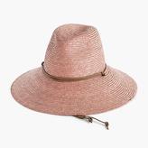 J.Crew Wide-brim hat with leather trim