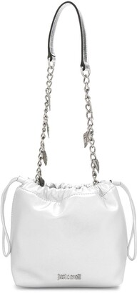 Just Cavalli Feather Charm Bucket Bag