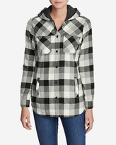 Eddie Bauer Women's Stine's Favorite Flannel Hooded Shirt Jacket