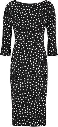 Dolce & Gabbana Monochrome polka-dot midi dress