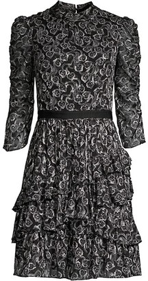 Rebecca Taylor Ceclia Silk-Blend Lace Dress