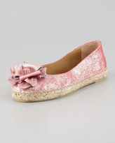 Donald J Pliner Maria Shimmery Espadrille Flat, Coral Pink