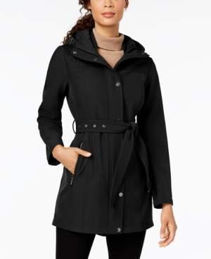 Michael Kors Michael Belted Quilt-Patch Raincoat