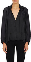 Ulla Johnson Women's Rosamund Matte Satin Blouse-BLACK