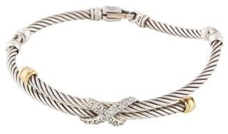 David Yurman Diamond X Crossover Bangle