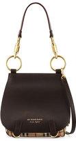 Burberry Bridle Large Haymarket Check Shoulder Bag, Dark Clove Brown