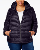 MICHAEL Michael Kors Size Packable Down Hooded Puffer Coat, Only at Macy's