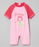 Sweet & Soft Pink 'Princess' One-Piece Rashguard - Infant & Toddler