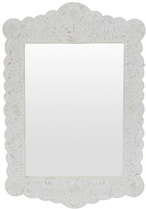 Ruby Star Cordelia Bone Inlay Scalloped Mirror White