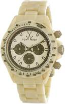 Toy Watch Men's TOYFLE08HR Imprint Analog Display Swiss Quartz Beige Watch