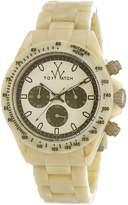 Toy Watch Men's TOYFLE08HR Imprint Analog Display Swiss Quartz Beige Watch