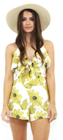 West Coast Wardrobe Sun Drenched Floral Romper in Yellow