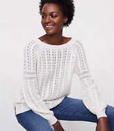 LOFT Blouson Cable Sweater