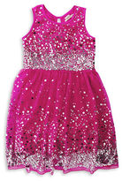 Poppies And Roses Girls 7-16 Sleeveless Mesh Sequined Dress