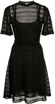 M Missoni flared lace knit dress