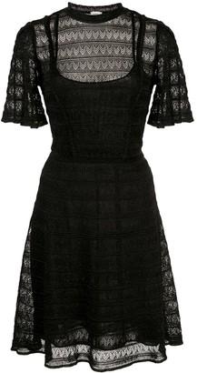 M Missoni flared lace knit dress