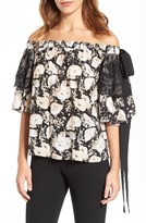 Olivia Palermo + Chelsea28 Women's Silk Off The Shoulder Top
