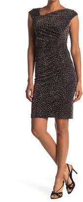 Vince Camuto Asymmetrical Neck Leopard Dress