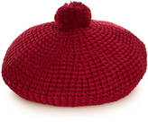 Gucci Pompom cotton-knit beret