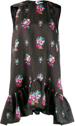 MSGM Short Floral Print Dress