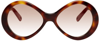 Chloé Tortoiseshell Retro Oval Sunglasses