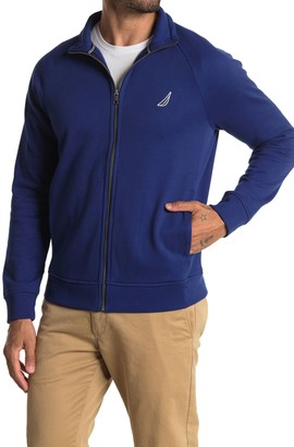 Nautica Solid Raglan Zip Sweatshirt
