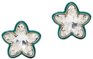 Lele Sadoughi Swarovski Star Button Earrings