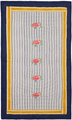 LISA CORTI Big Roses Bedspread - Grey - 110x180cm