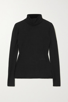 Burberry Cashmere And Silk-blend Turtleneck Sweater - Black