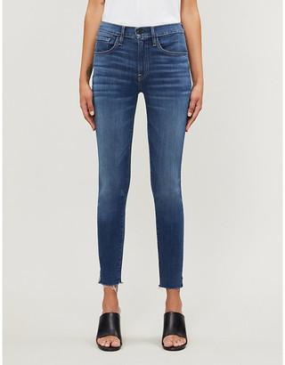 3x1 Skinny Crop raw-hem mid-rise stretch-denim jeans