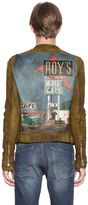 Php Roy's Hand-Painted Leather Moto Jacket