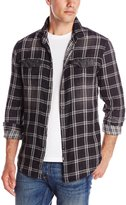 Calvin Klein Jeans Men's Double Faced Plaid and Denim Shirt