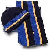 Ralph Lauren Striped Scarf & Hat Gift Set