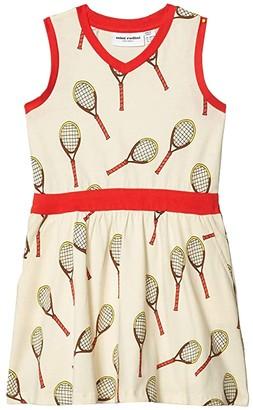 Mini Rodini Tennis All Over Printed Tank Dress (Toddler/Little Kids/Big Kids) (Off-White) Girl's Dress