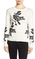 Halogen Floral Intarsia Knit Sweater (Regular & Petite)