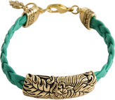 Barse FINE JEWELRY Art Smith by Floral Aqua Leather Bracelet
