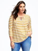 Old Navy Relaxed Plus-Size Lace-Up Tee