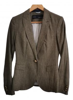Zara Khaki Linen Jackets