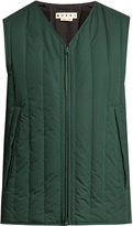 Marni Extended-hemline down-filled cotton gilet