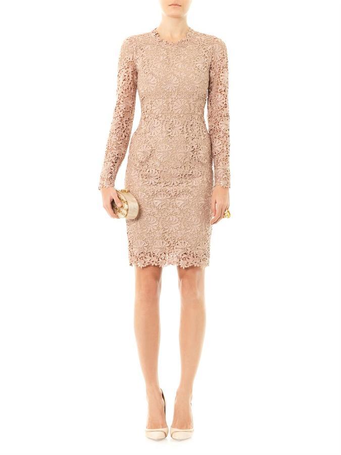 Stella McCartney Lise lace fitted dress