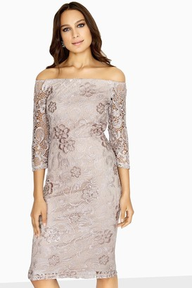 Paper Dolls Ashford Crochet Lace Bardot Dress