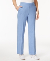 Alfred Dunner Petite Long Weekends Pull-On Pants