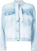 Frame denim tie neck jacket