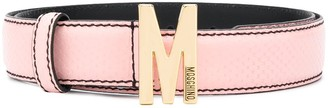 Moschino M buckle leather belt