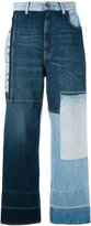Golden Goose Deluxe Brand contrast panel jeans - women - Cotton - 24