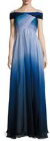 Shoshanna Silk Print Maxi Dress