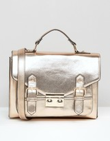 Asos Metallic Satchel Bag