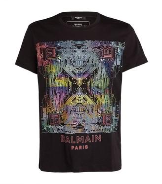 Balmain Digital Graphic T-Shirt
